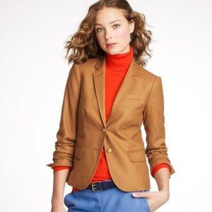 J crew schoolboy wool blazer brown Sz 4